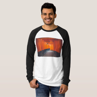 Pixel Glitch Japanese Gate Design T-Shirt