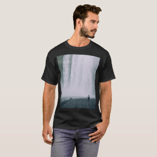 Pixel Glitch Waterfall Design T-Shirt