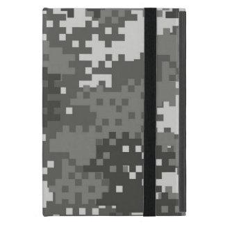 Pixel Grey & White Urban Camouflage iPad Mini Cover