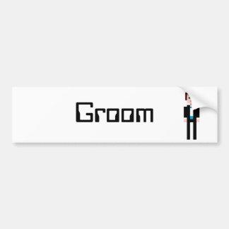 Pixel Groom Bumper Sticker