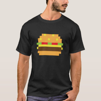 Pixel Hamburger T-shirt