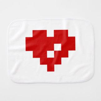 Pixel Heart 8 Bit Love Burp Cloths