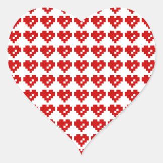 Pixel Heart 8 Bit Love Heart Sticker