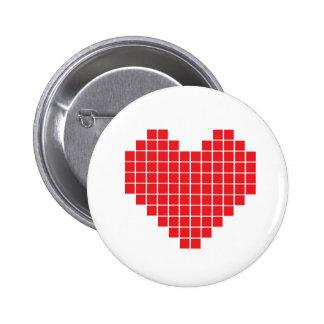 Pixel Heart Pins