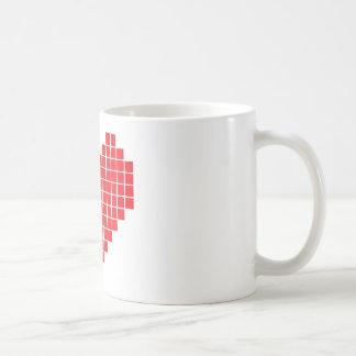 Pixel Heart Coffee Mugs