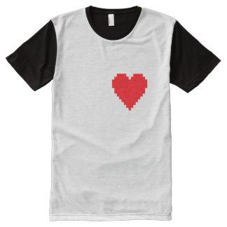 Pixel Heart T-Shirt All-Over Print T-Shirt
