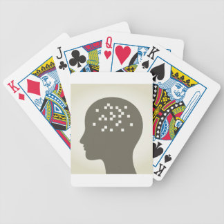 Pixel in a head bicycle playing cards
