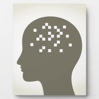 Pixel in a head plaque
