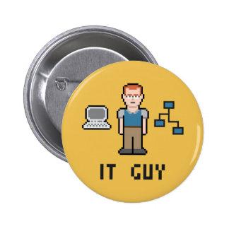 Pixel IT Guy Round Button