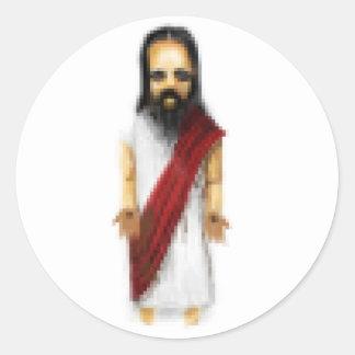 Pixel Jesus Classic Round Sticker