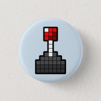 Pixel Joystick Light Blue 3 Cm Round Badge