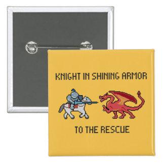 Pixel Knight VS Dragon Button
