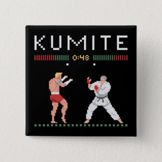 Pixel Kumite 15 Cm Square Badge