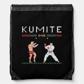 Pixel Kumite Drawstring Bag