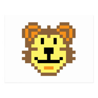 Pixel Lion Post Card