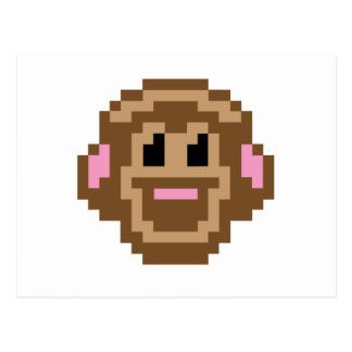 Pixel Monkey Post Card