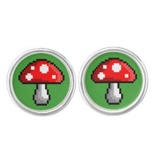 Pixel Mushroom Cufflinks
