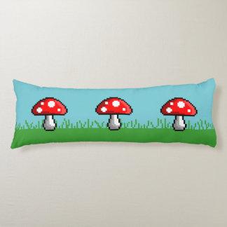 Pixel Mushroom Meadow Body Pillow