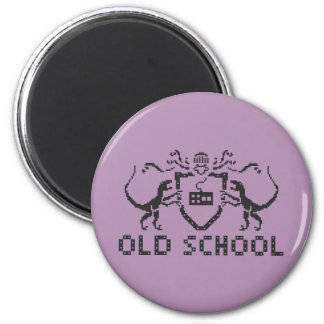 Pixel Old School Dinosaur Magnet