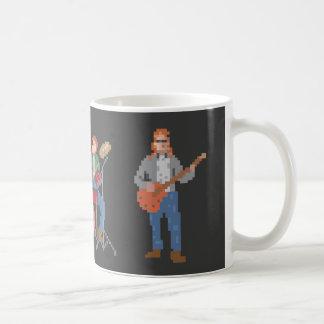 Pixel Old School Rock Band Coffee Mug