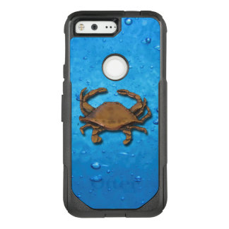 Pixel OtterBox Nautical Copper Crab on Bubbles OtterBox Commuter Google Pixel Case