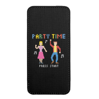 Pixel Party Time Smartphone Pouch