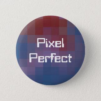 Pixel Perfect Pixelated 6 Cm Round Badge