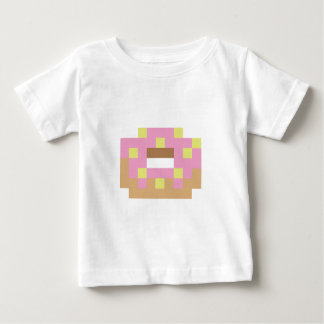 Pixel pink frosted donut baby T-Shirt