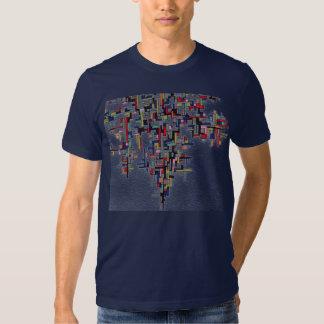 Pixel Pop Abstract Fractal Designs T Shirt