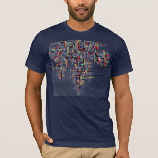 Pixel Pop Abstract Fractal Designs T-Shirt