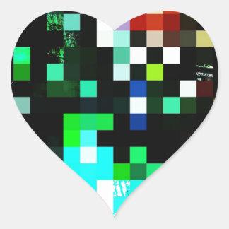Pixel Punk Heart Sticker