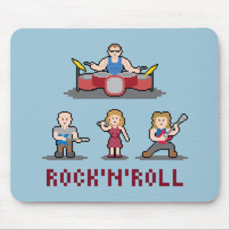 Pixel Rock Band Mousepad