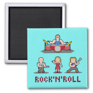 Pixel Rock'n'Roll Band Magnet