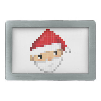 Pixel Santa Belt Buckle