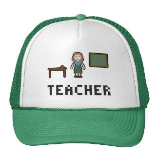 Pixel School Teacher Trucker Hat