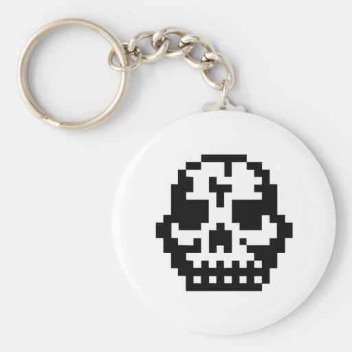 Pixel Skull Key Chain
