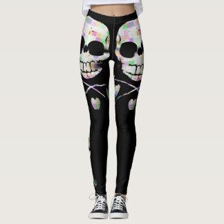'Pixel Skull' Leggings
