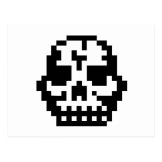 Pixel Skull Post Card