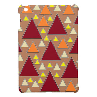 pixel snow topped fall mountain ranges iPad mini case