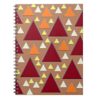pixel snow topped fall mountain ranges spiral notebook