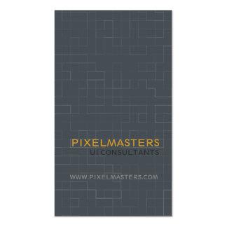 Pixel Tech Pack Of Standard Business Cards