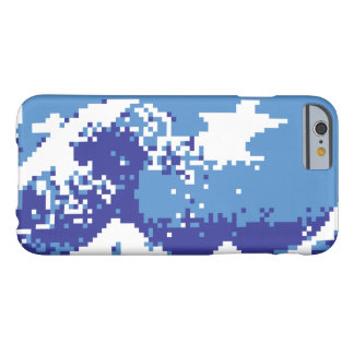 Pixel Tsunami Blue 8 Bit Pixel Art Barely There iPhone 6 Case
