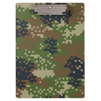 Pixel Woodland Camouflage Clipboard