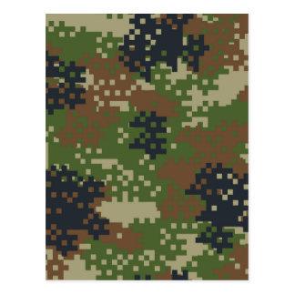 Pixel Woodland Camouflage Postcard