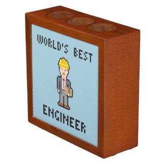 Pixel World's Best Engineer Desk Organizer