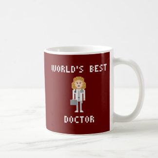 Pixel World's Best Female Doctor Mug