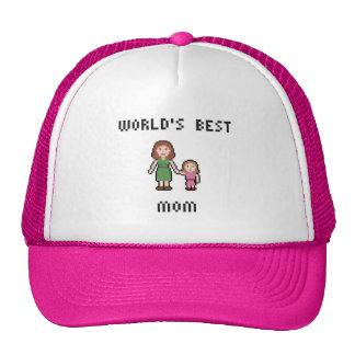 Pixel World's Best Girl Mom Hat