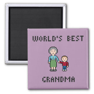 Pixel World's Best Grandma Magnet