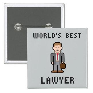 Pixel World's Best Lawyer Button