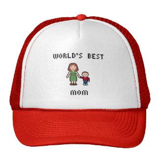 Pixel World's Best Mom Hat